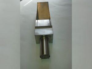 Erfassungselement aus Edelstahl mit integriertem Funkenschutz für Poliermaschine