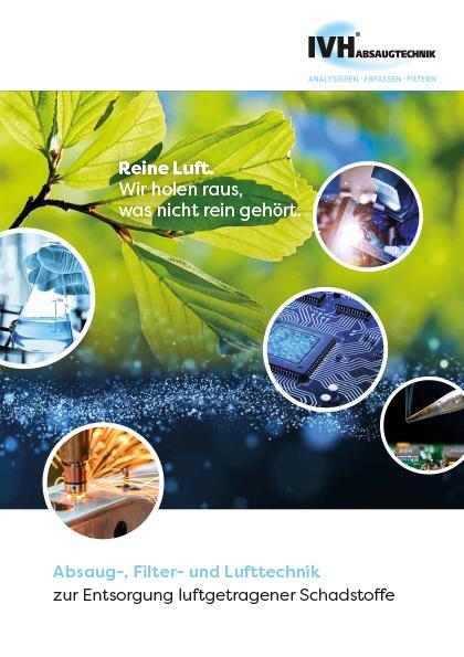 Produktsortiment von IVH Absaugtechnik: mobile und stationäre Absauganlagen, Industriesauger, Entstauber, Absaugtische und individuelle Erfassungen sowie Absaugarme in diversen Ausführungen