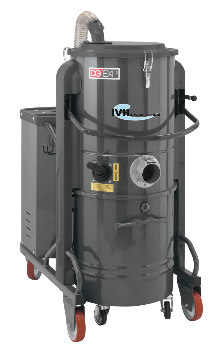 DG 50 EXP - ideale Lösung, um große Mengen an Feststoffen, Stäuben und Flüssigkeiten abzusaugen